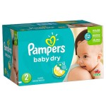 Pack 252 Couches de Pampers Baby Dry sur auchan