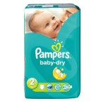 33 Couches Pampers Baby Dry taille 2