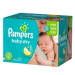 231 Couches Pampers Baby Dry taille 2