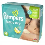156 Couches Pampers Baby Dry taille 4