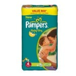 390 Couches Pampers Baby Dry taille 4