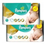 132 Couches Pampers New Baby Premium Care taille 1