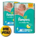 39 Couches Pampers Active Baby Dry taille 4