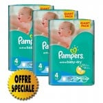 169 Couches Pampers Active Baby Dry taille 4