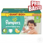 338 Couches Pampers Active Baby Dry taille 4