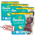390 Couches Pampers Active Baby Dry taille 4