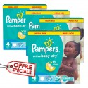 468 Couches Pampers Active Baby Dry taille 4