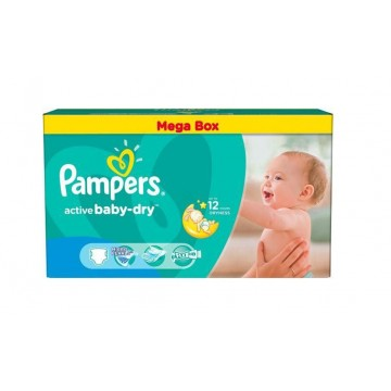 559 Couches Pampers Active Baby Dry taille 4