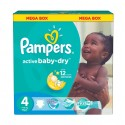 572 Couches Pampers Active Baby Dry taille 4