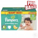 611 Couches Pampers Active Baby Dry taille 4