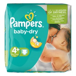 41 Couches Pampers Baby Dry taille 4+