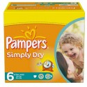 124 Couches Pampers Simply Dry taille 6