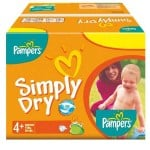 Pack de 44 Couches Pampers Simply Dry sur auchan