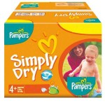 Pack 44 Couches de Pampers Simply Dry sur layota