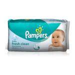 Pack de 64 Lingettes Bébés Pampers Fresh Clean sur layota