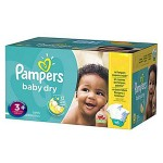 68 Couches Pampers Baby Dry taille 3+
