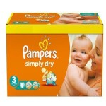 Pack de 56 Couches de Pampers Simply Dry sur layota