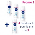 Maxi Pack de 4 Deodorants Nivea Fresh Natural sur auchan