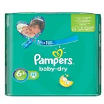 38 Couches Pampers Baby Dry taille 6+
