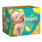 Pack économique 240 Couches Pampers New Baby Dry sur auchan