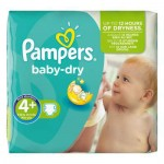 56 Couches Pampers Baby Dry taille 4+