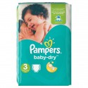 70 Couches Pampers Baby Dry taille 3