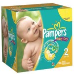 462 Couches Pampers Baby Dry taille 2