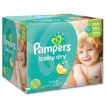 660 Couches Pampers Baby Dry taille 2