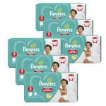 208 Couches Pampers Baby Dry Pants taille 3