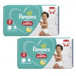 416 Couches Pampers Baby Dry Pants taille 3
