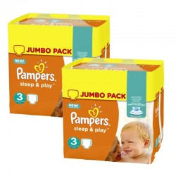 820 Couches Pampers Sleep & Play taille 3