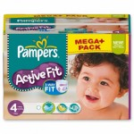 192 Couches Pampers Active Fit Pants taille 4