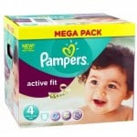 256 Couches Pampers Active Fit Pants taille 4