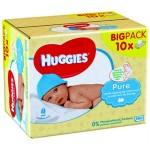 Maxi Pack de 56 Lingettes Bébés Huggies Pure sur priceminister - rakuten