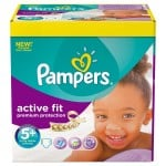 174 Couches Pampers Active Fit taille 5+