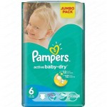 36 Couches Pampers Baby Dry taille 6