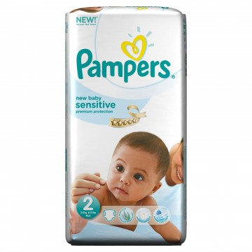 60 Couches Pampers New Baby Sensitive taille 2