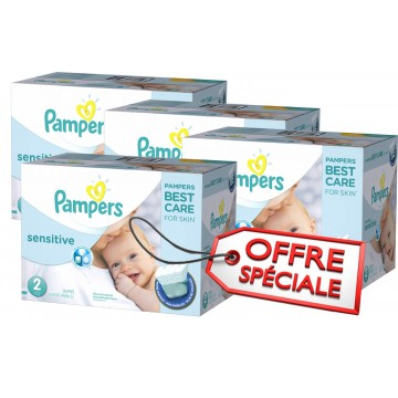 540 Couches Pampers New Baby Sensitive taille 2