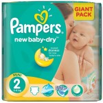 Pack de 68 Couches Pampers de New Baby Dry sur layota