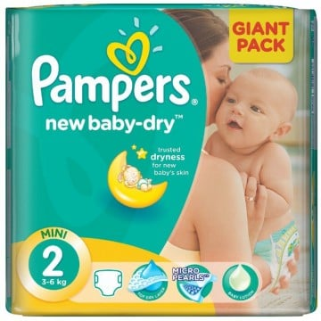 68 Couches Pampers Pampers New Baby Dry Taille 2 En Promotion Sur Layota