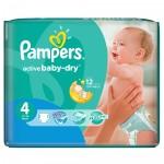 Paquet de 76 Couches Pampers Active Baby Dry sur auchan