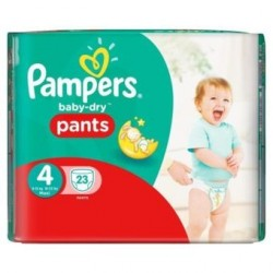 23 Couches Pampers Active Baby Dry taille 4