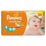 50 Couches Pampers Sleep & Play taille 4