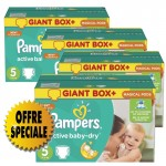 522 Couches Pampers Active Baby Dry taille 5