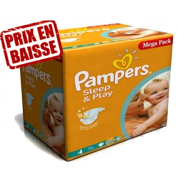 250 Couches Pampers Sleep & Play taille 4