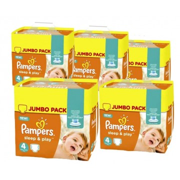 550 Couches Pampers Sleep & Play taille 4