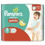 Pack de 24 Couches Pampers Baby Dry Pants sur auchan