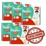 252 Couches Pampers Baby Dry Pants taille 6
