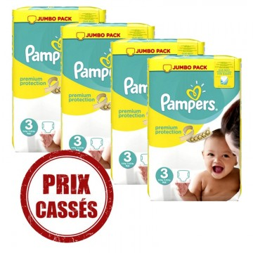 232 Couches Pampers Premium Protection taille 3
