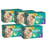 304 Couches Pampers Baby Dry taille 6+